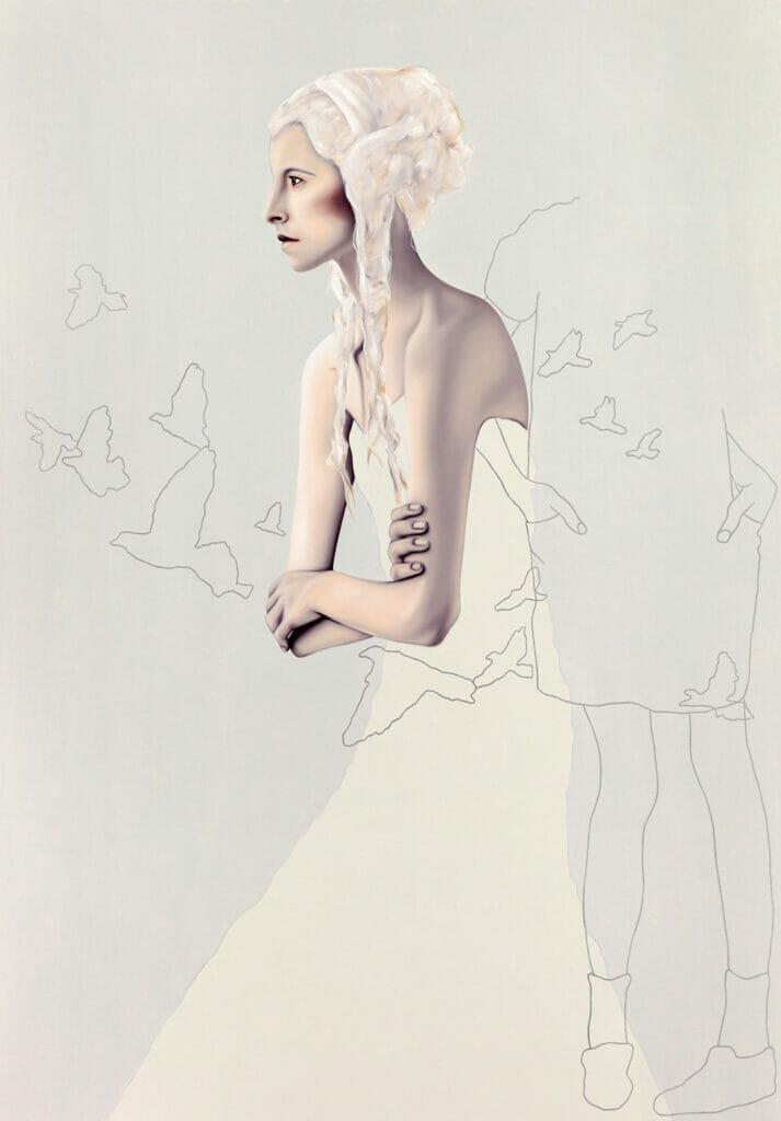 Kabel im Bauch, 297x210mm, Giclee Print auf Hahnemuehle Fine Art Paper 300gms, Limited Edition Nummeriert und Signiert